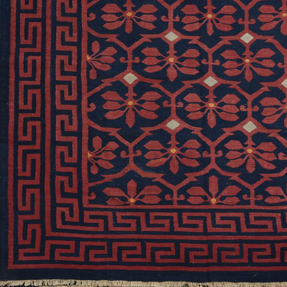 Bharoda Red and Indigo Dhurrie
