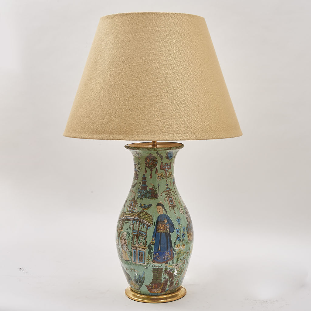 Chinoiserie Decalcomania Lamp