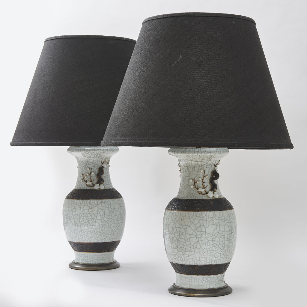 Celadon Crackleware Lamps
