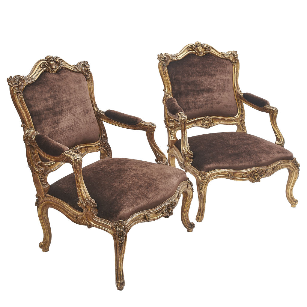French Rococo Armchairs
