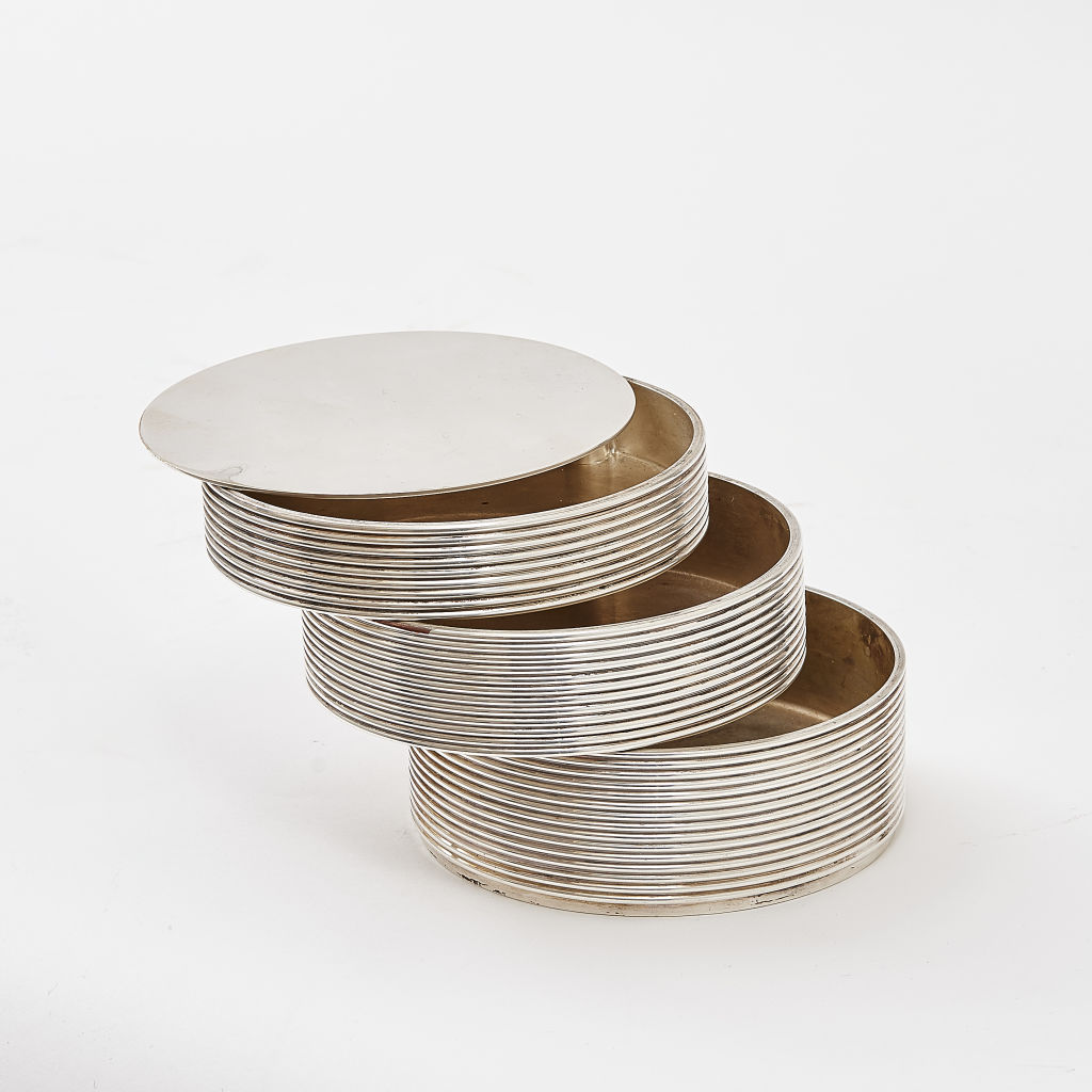 Reeded Silver Box