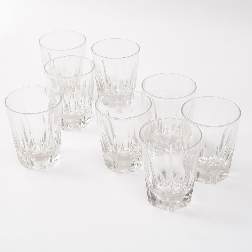 Eight Victorian Cut Crystal Tumblers