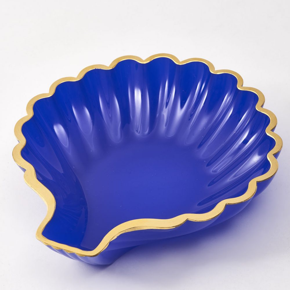Royal Blue Murano Glass Shell