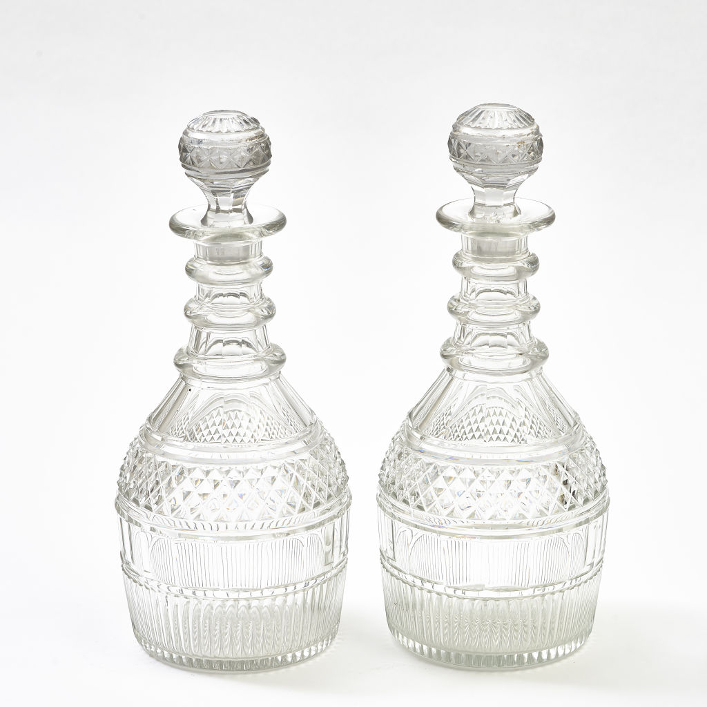 Pair George III Decanters