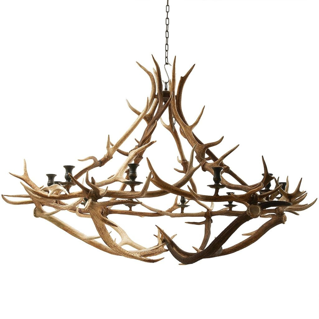 Red Deer Chandelier