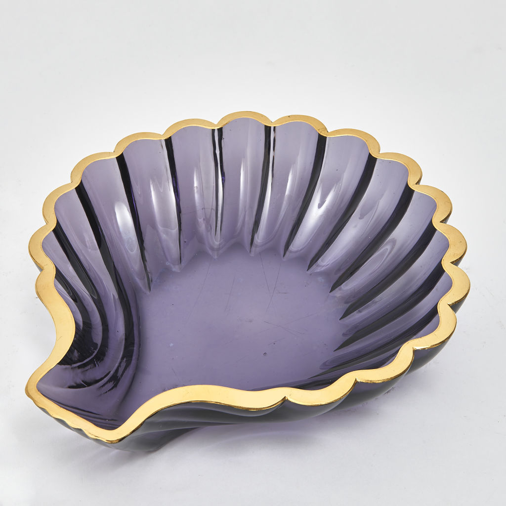 Amethyst Murano Glass Shell Dish