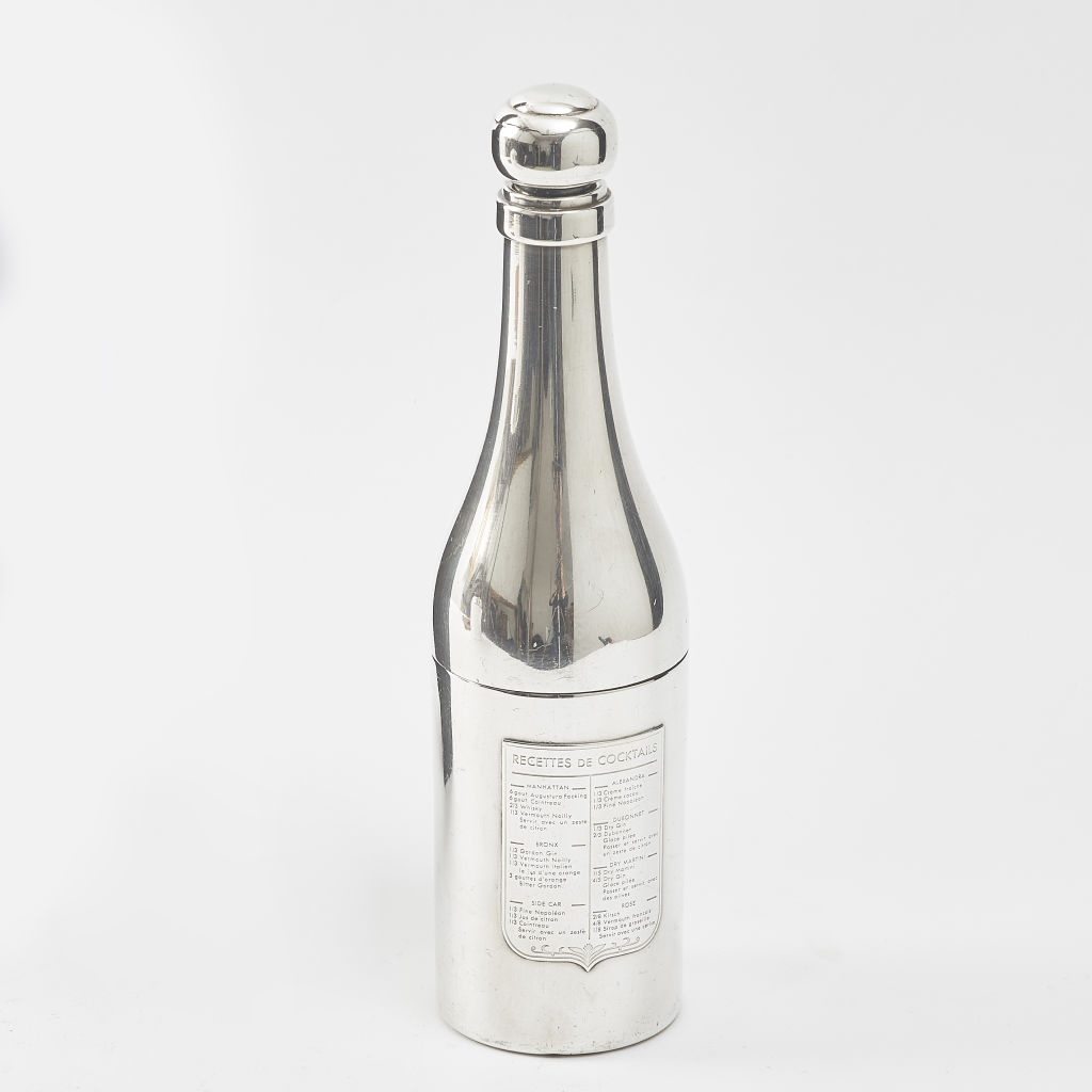 Silver Plate Champagne Shaped Cocktail Shaker