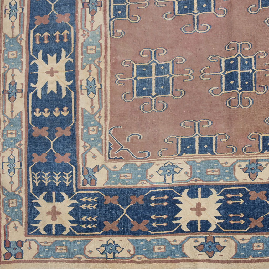 Blue and Terracotta Dhurrie