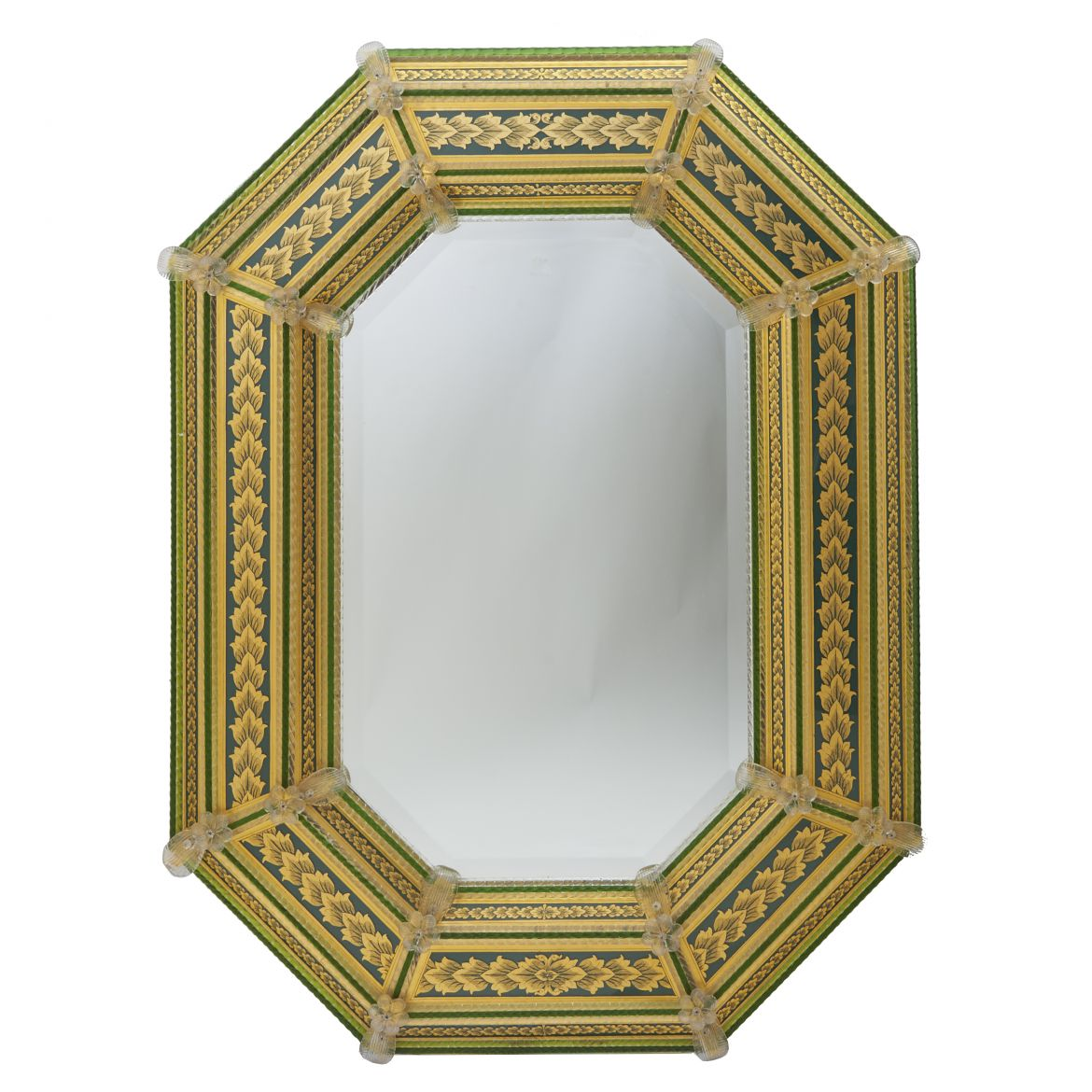 Venetian Green & Gilt Mirror