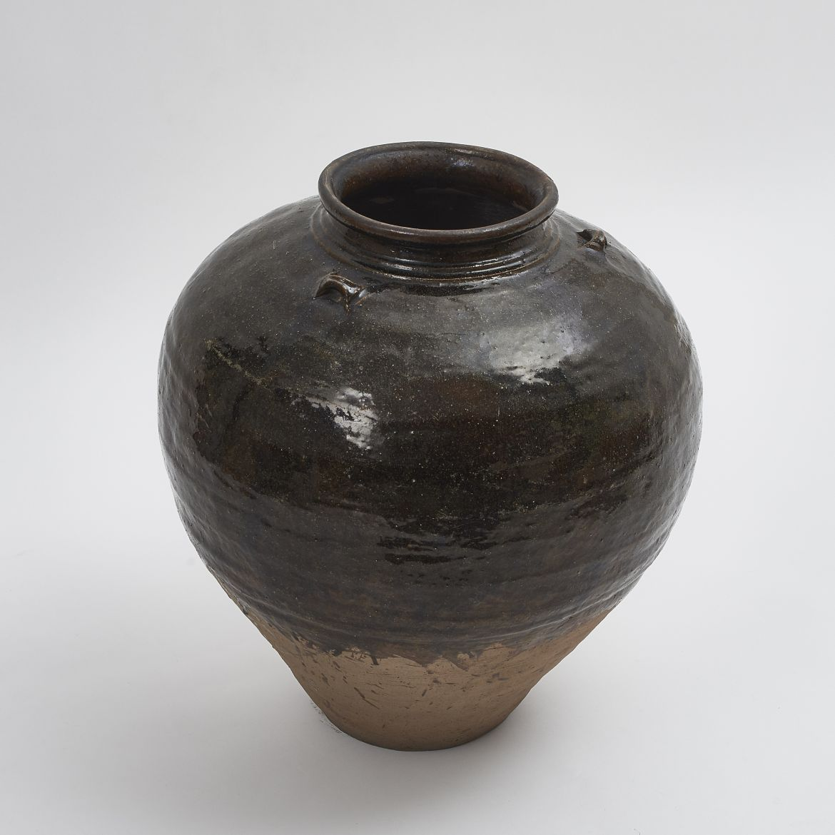 Black Glazed Water Jar