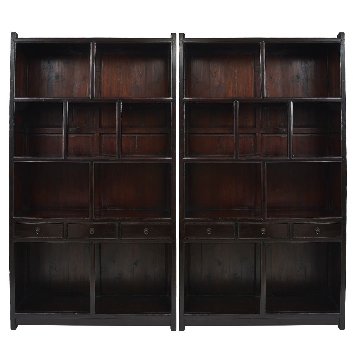 Chinese Open Front Bookcases