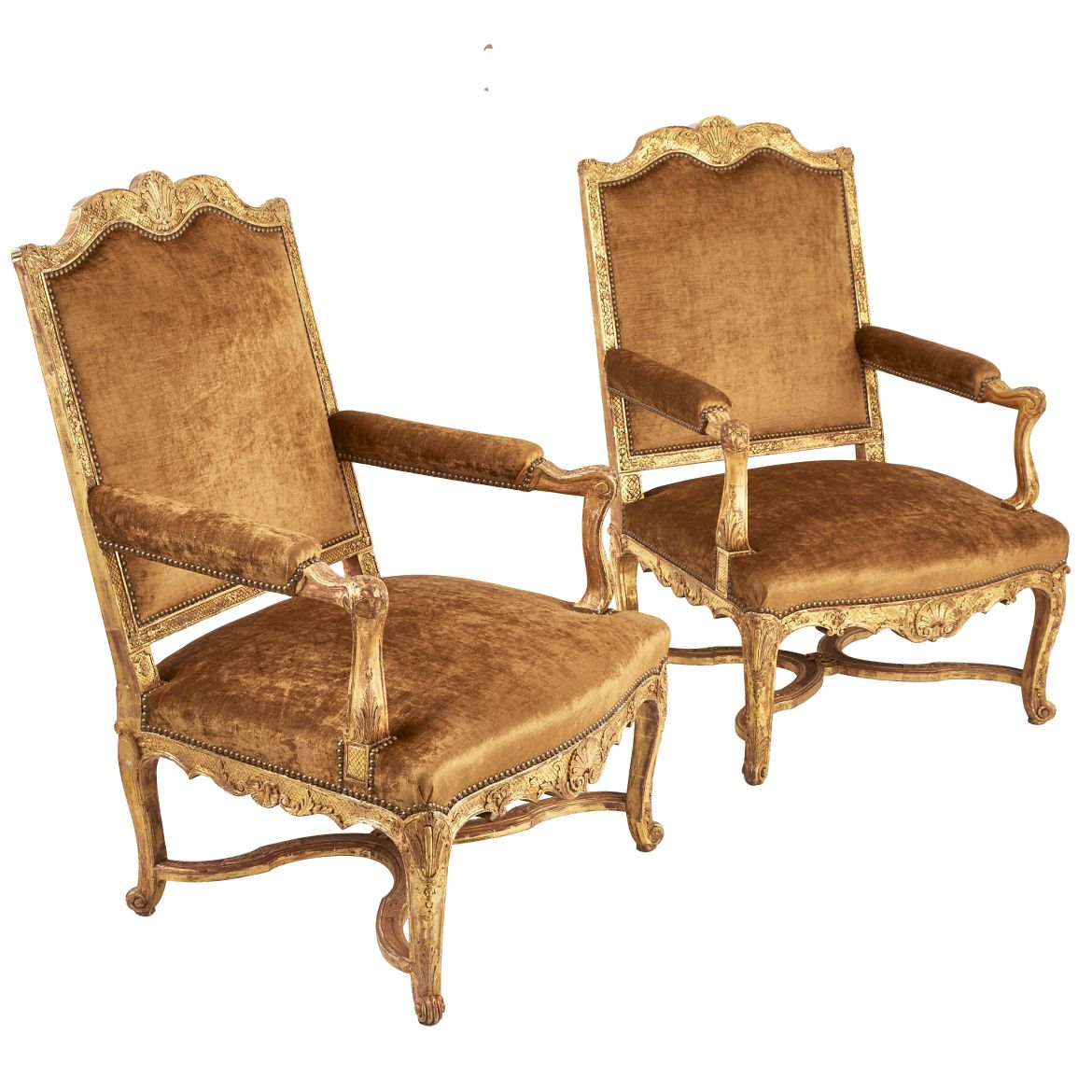 French Giltwood Armchairs