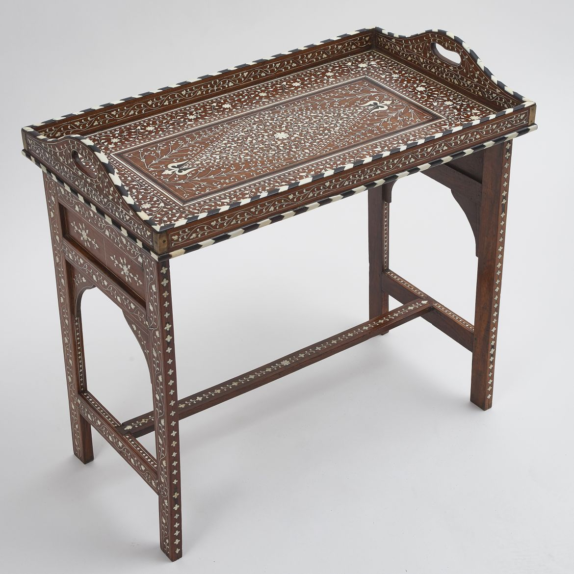 Indian Inlaid Tray Table
