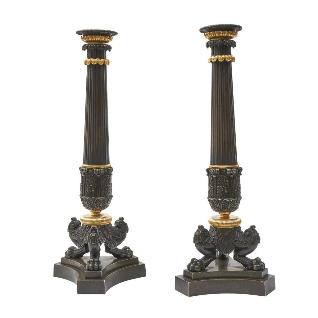 Pair French Empire Candlesticks