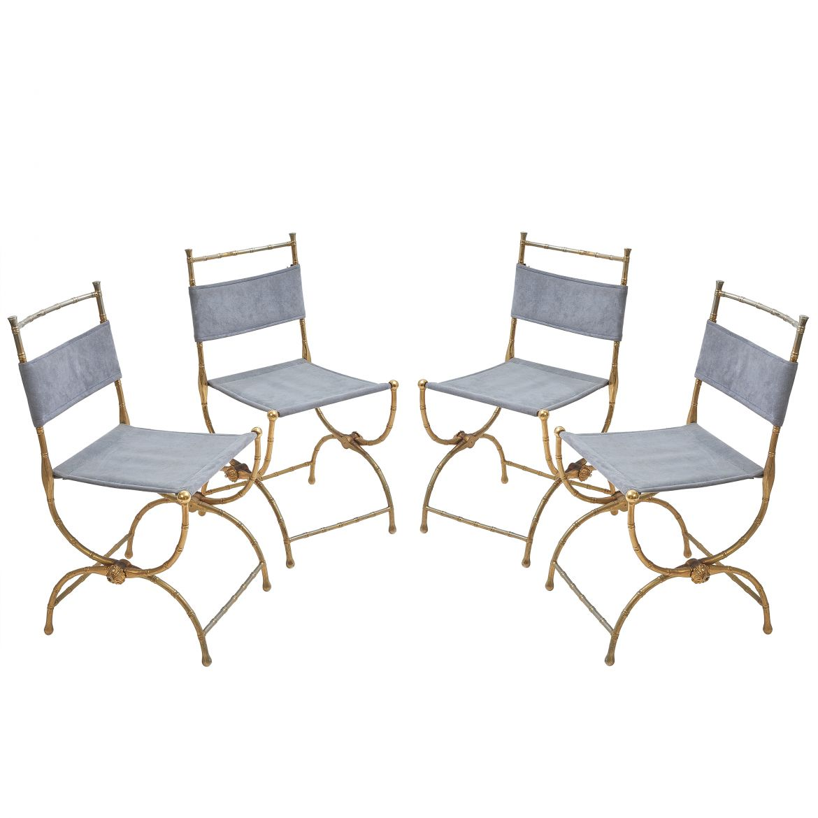 Gilt Metal Folding Chairs