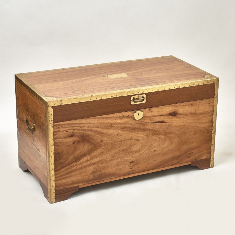 Brass Framed Camphor Wood Trunk