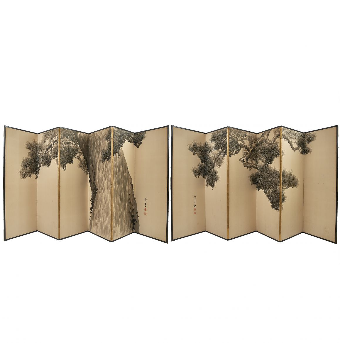 Pair Japanese Paper Screens