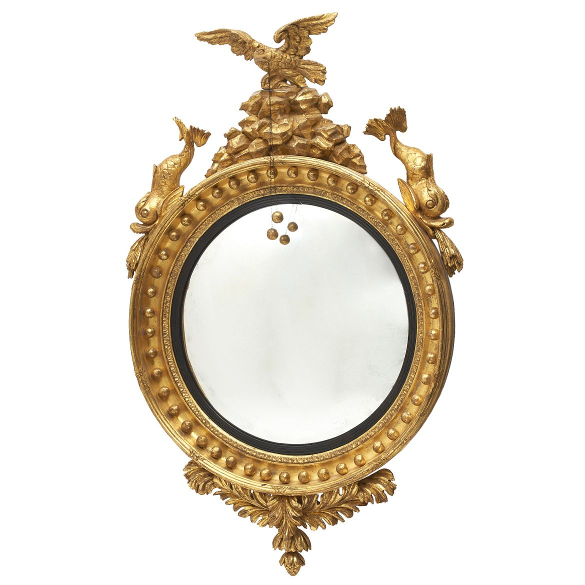 Large Regency Convex Mirror