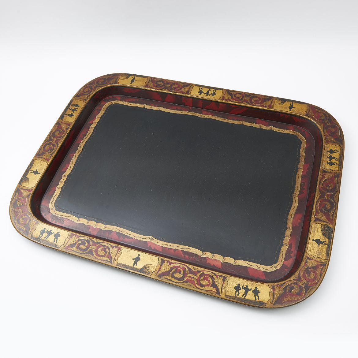 Regency Black Papier Mache Tray