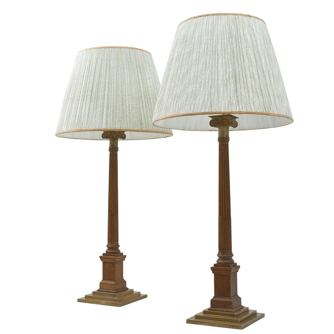 Pair of Ionic Column Lamps