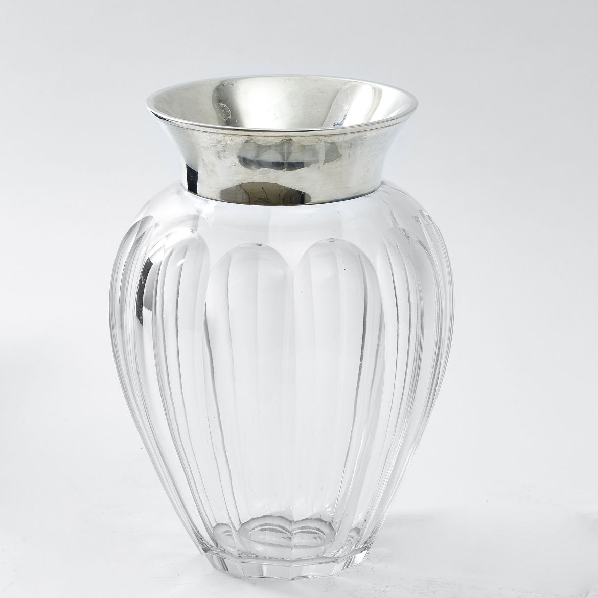American Ovoid Shaped Fluted Vase