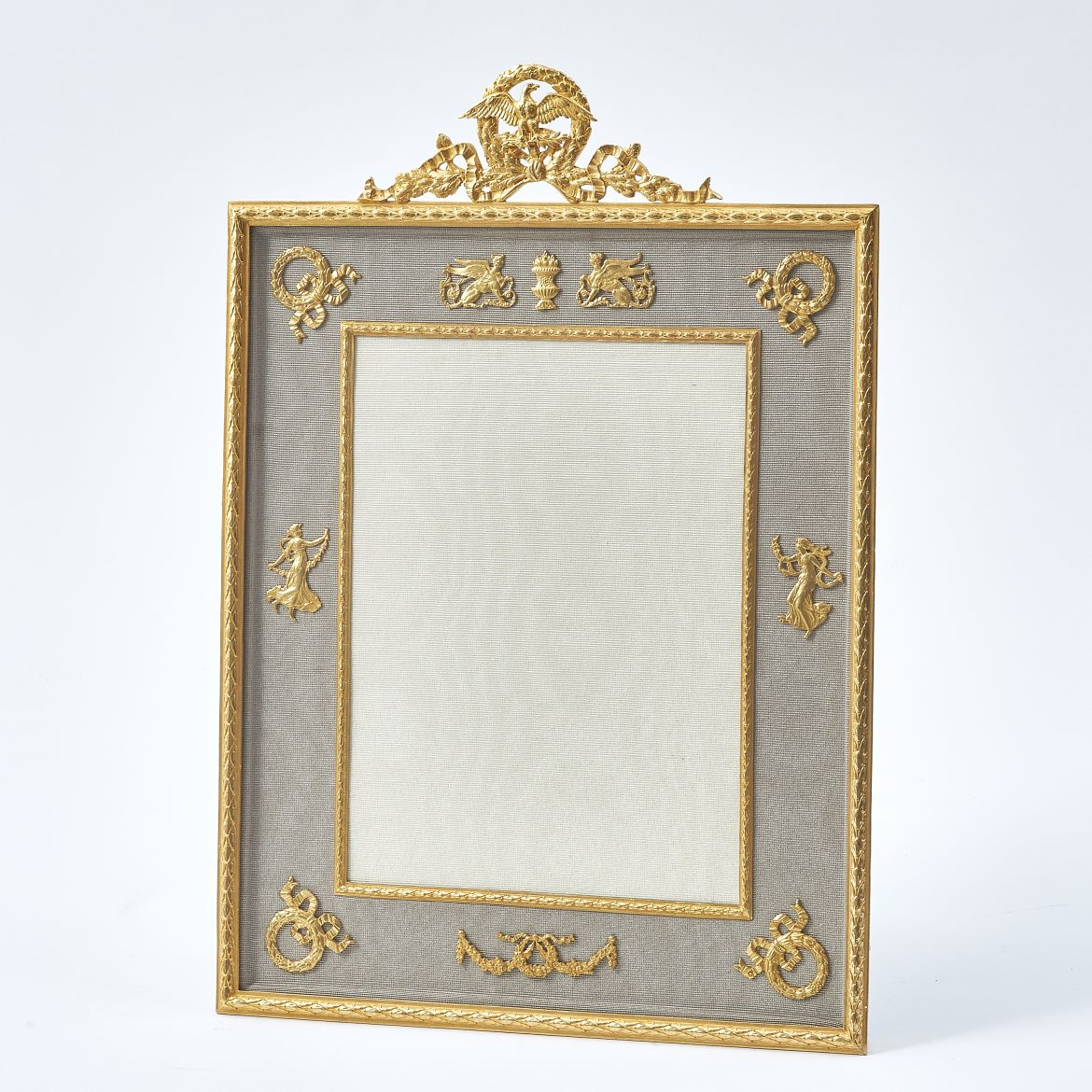 Ormolu and Taupe Slip Frame