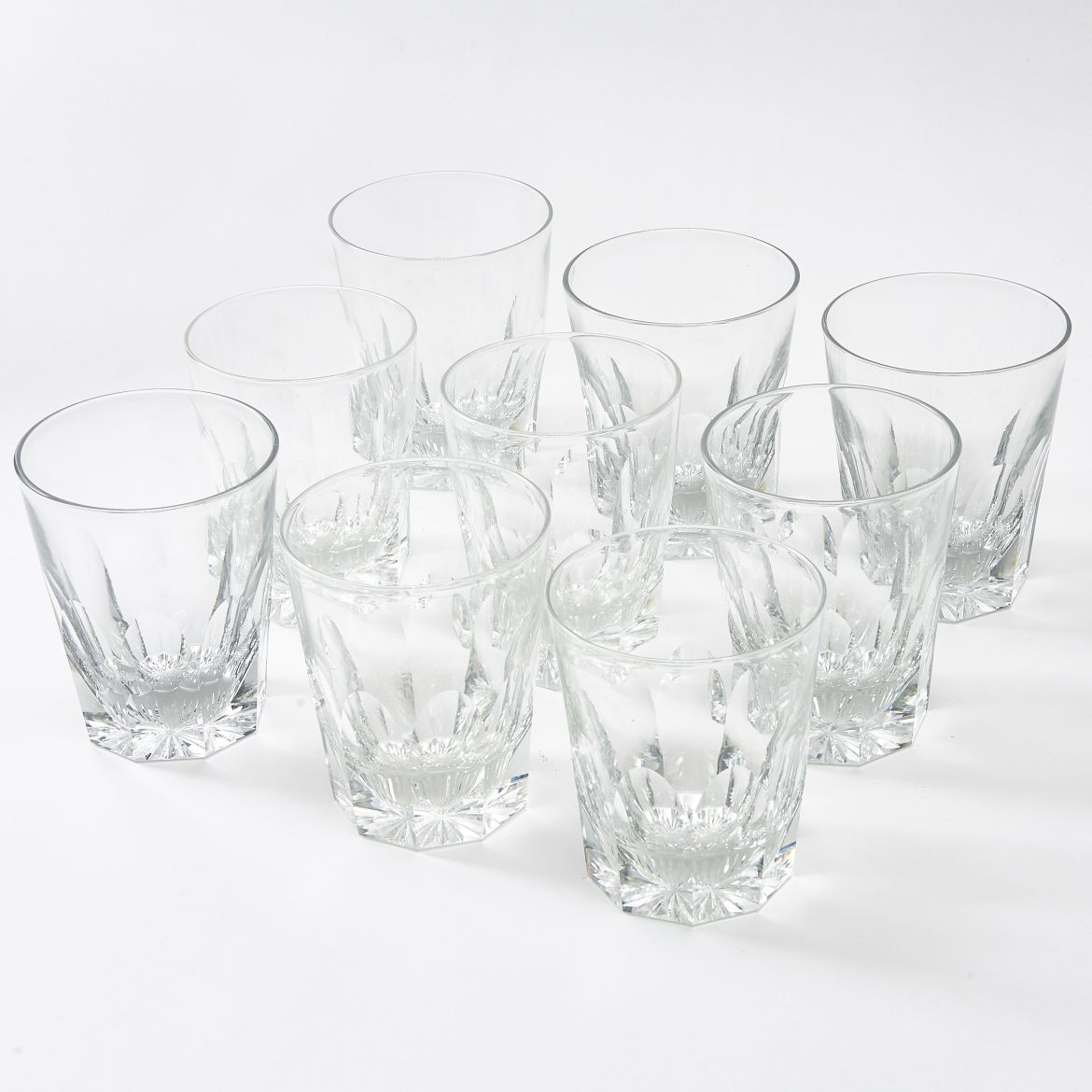 Nine Thomas Webb Tumblers