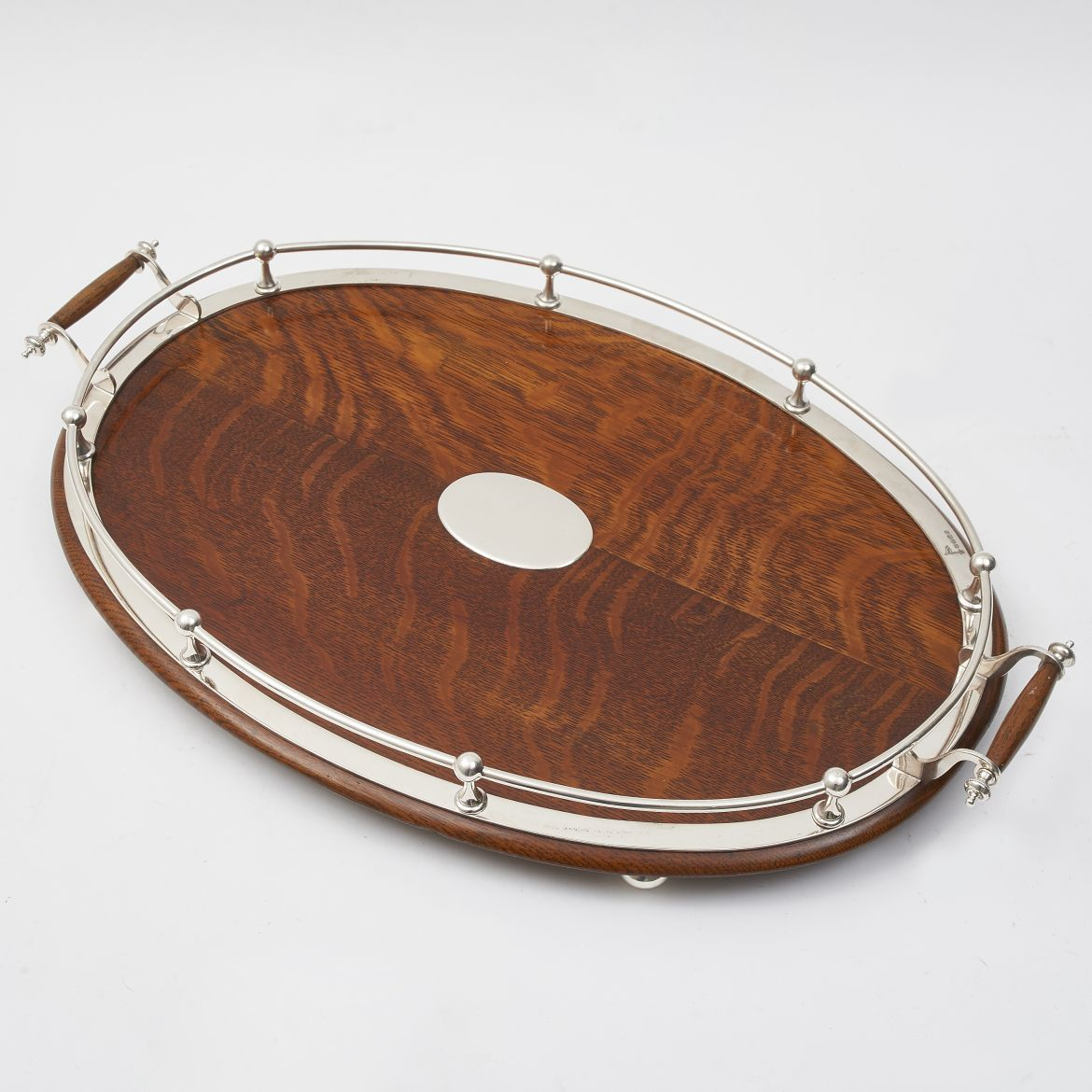 Oval Oak Gallery Tray