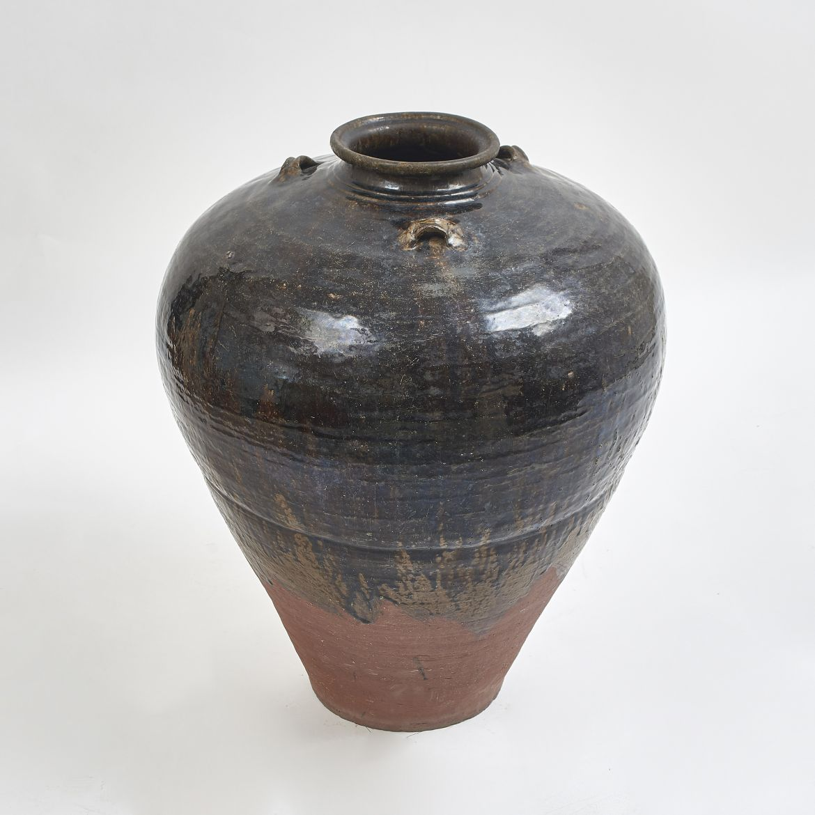 Chinese Black Glaze Water Jar