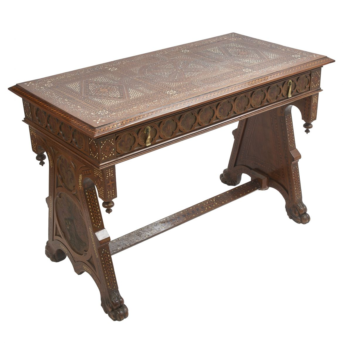 Florentine Inlaid Walnut Table
