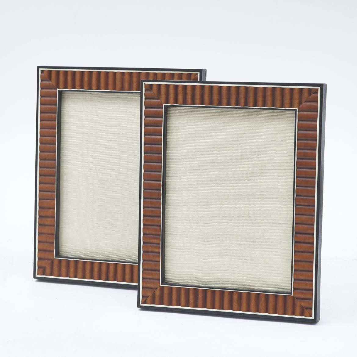 Pair Reeded Sandalwood Frames