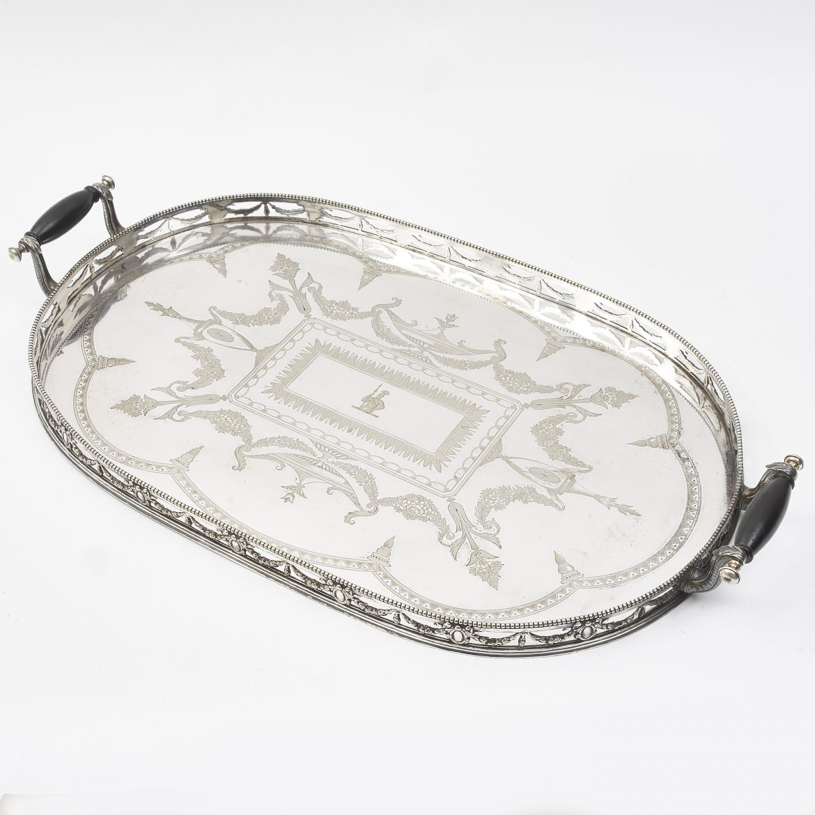 Silver Plate Gallery Tray