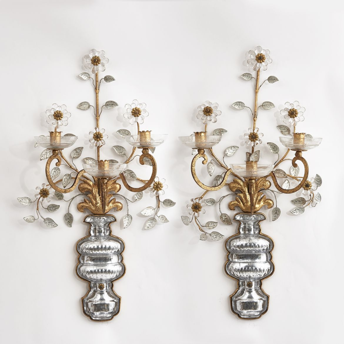 Large Bagues Style Sconces