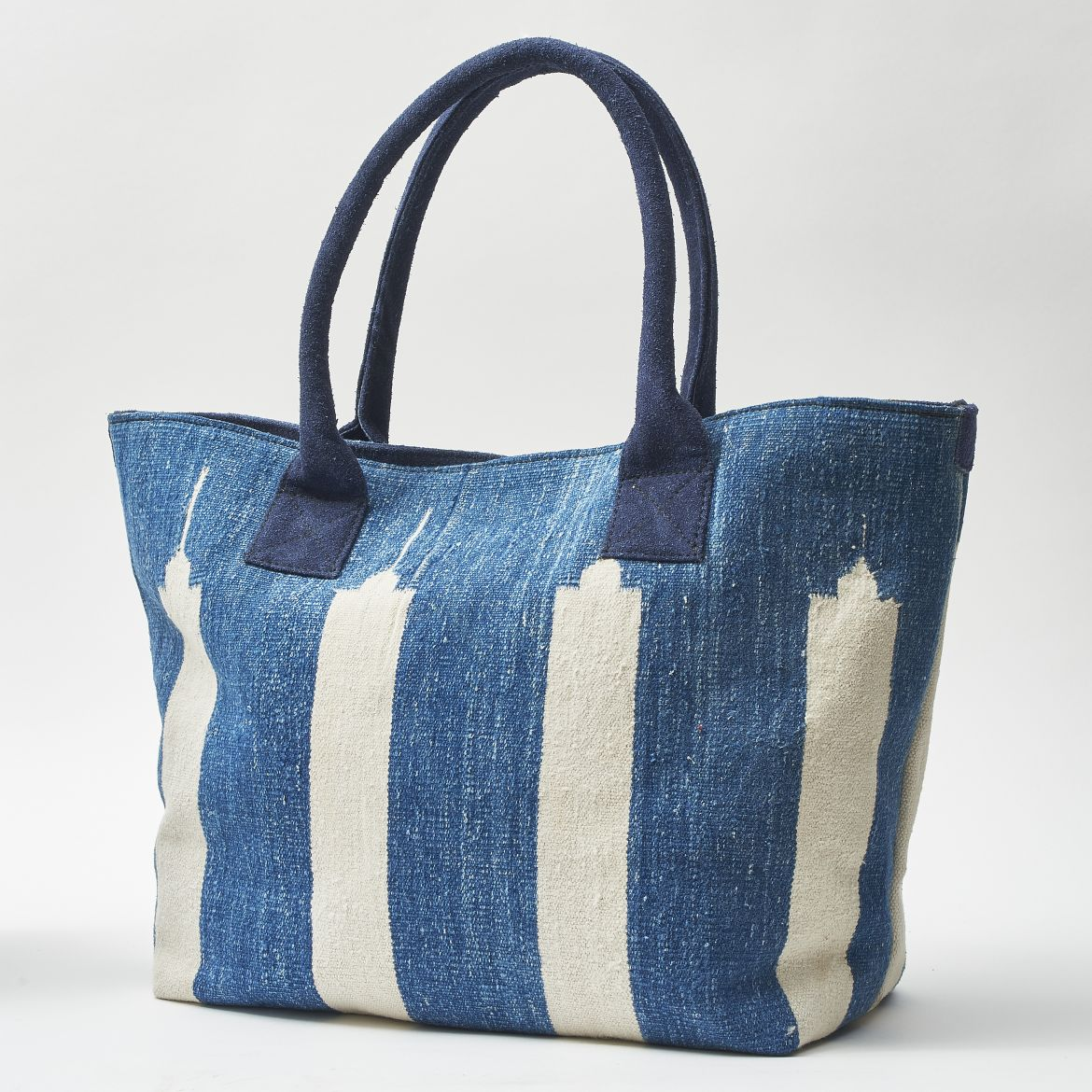 Blue & White Dhurrie Bag
