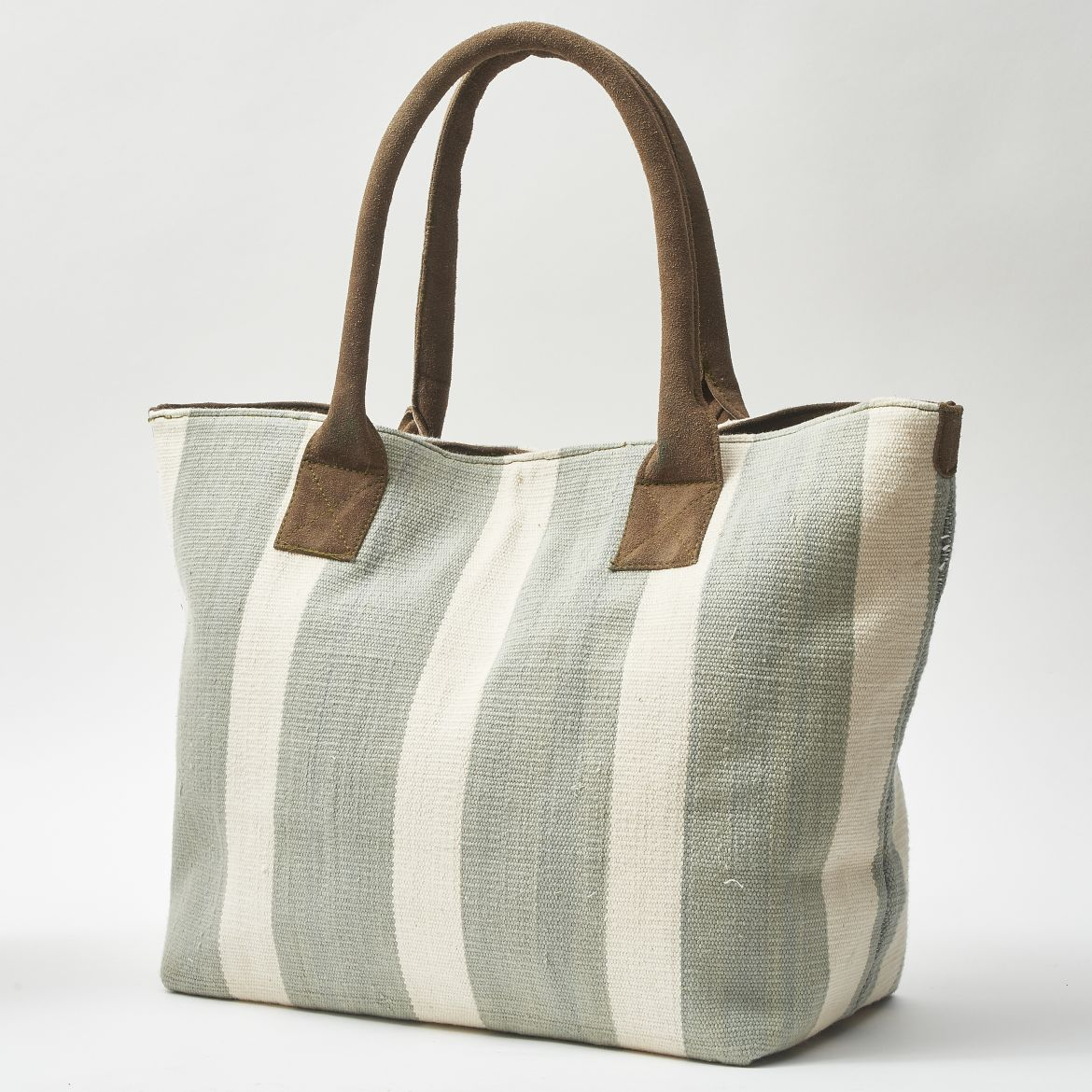 Celadon Striped Shopper