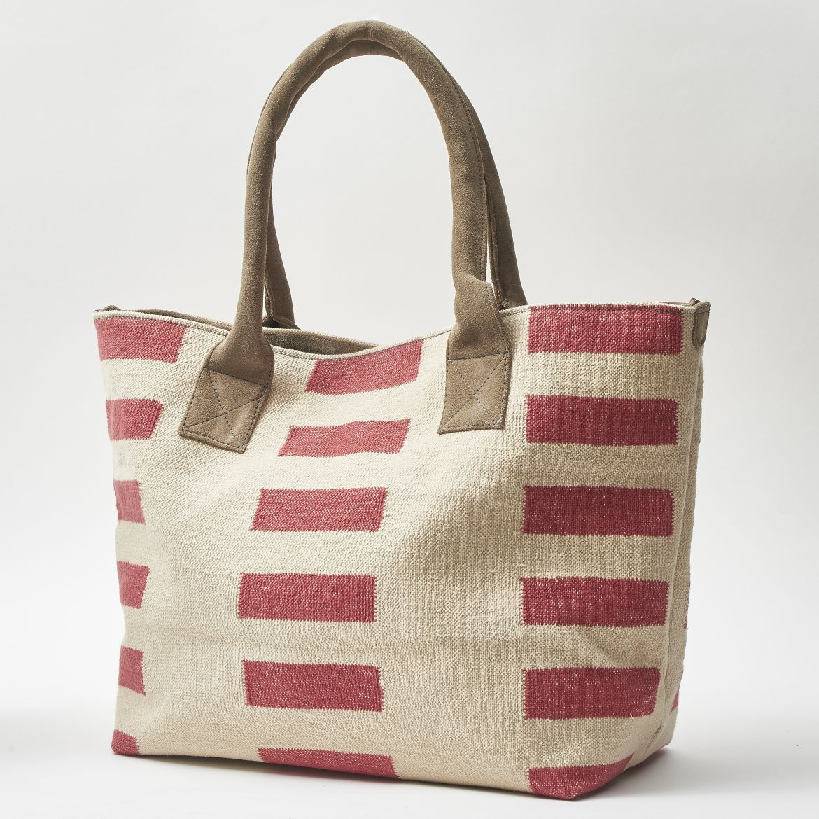 Raspberry Striped Shopper