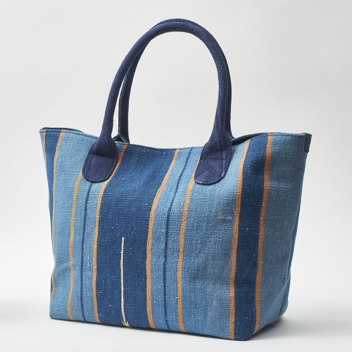 Blue Dhurrie Shopper