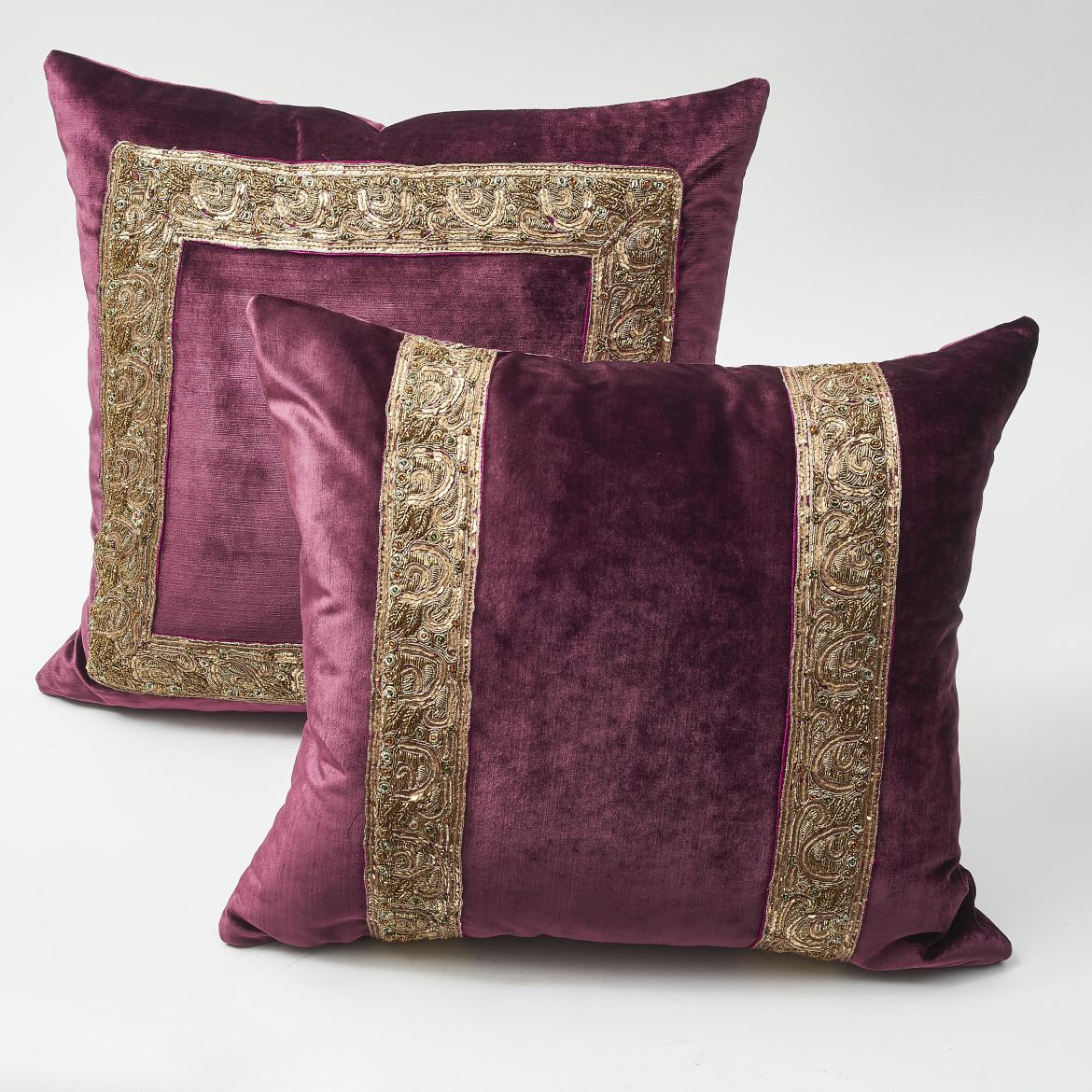 Purple Velvet Cushions
