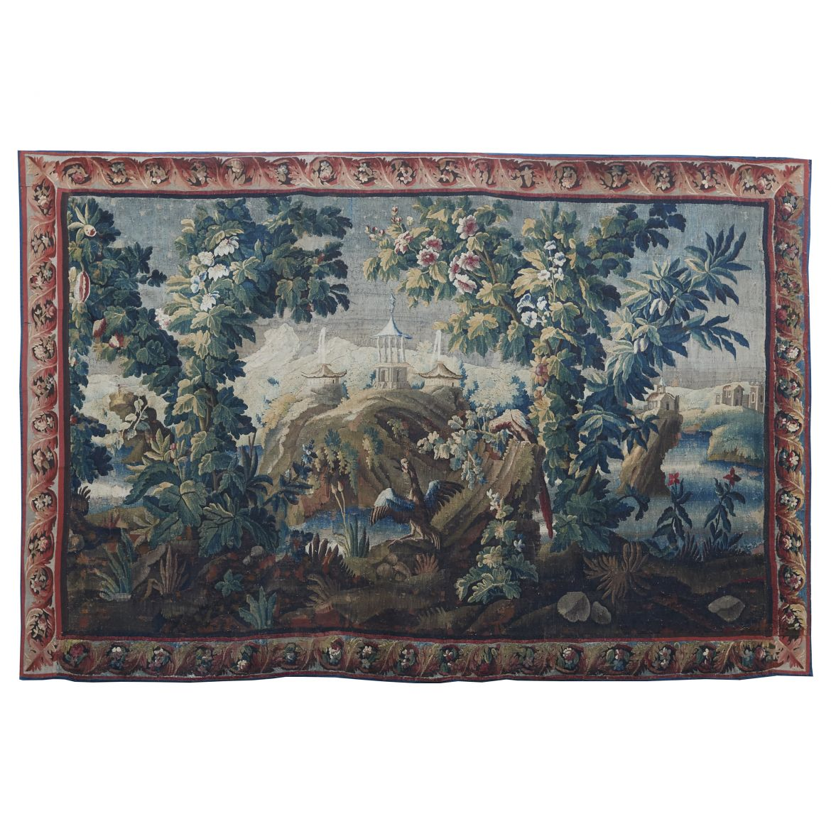 Large Aubusson Tapestry with Pagodas