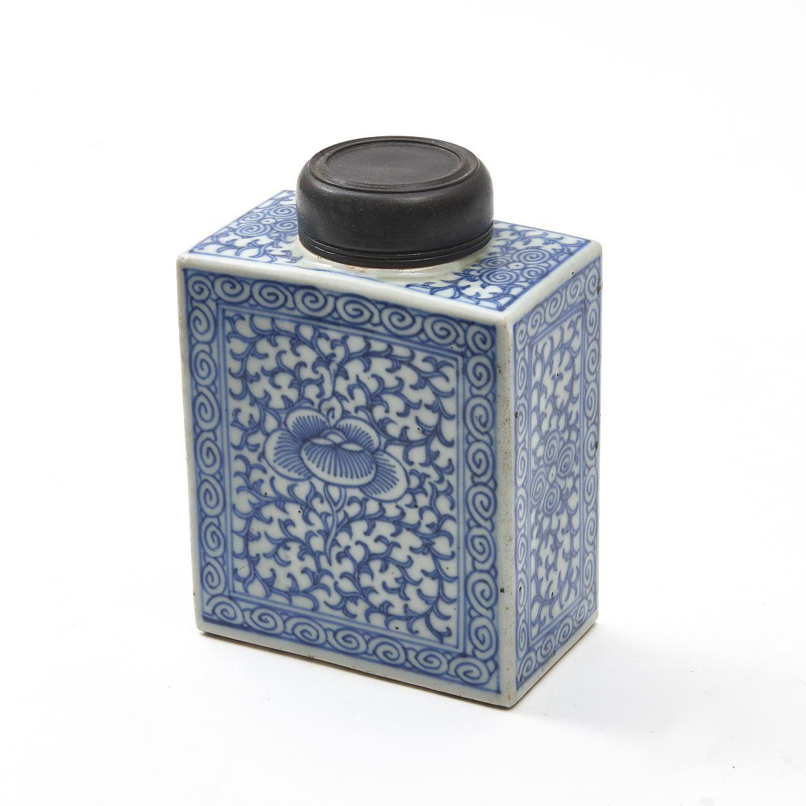 Chinese Blue & White Tea Caddy