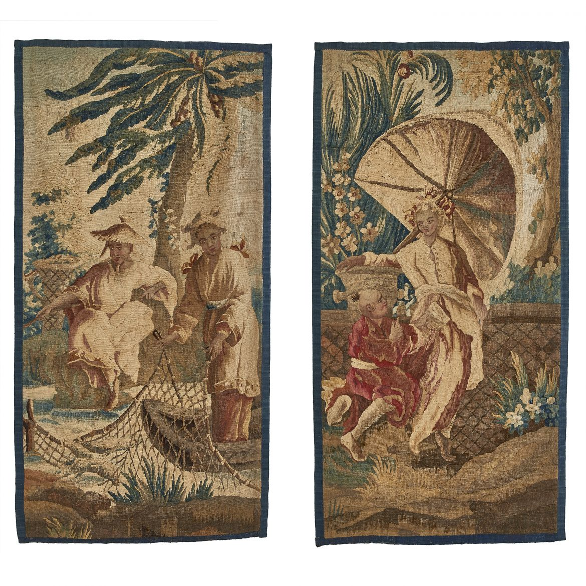 Pair Chinoiserie Tapestries
