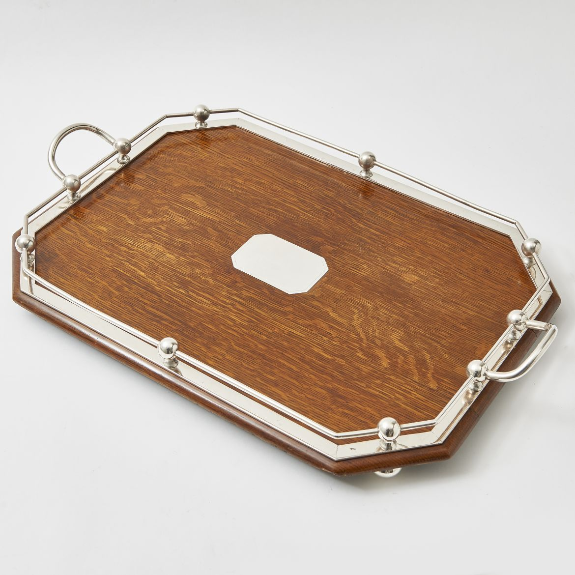 Edwardian Oak Gallery Tray