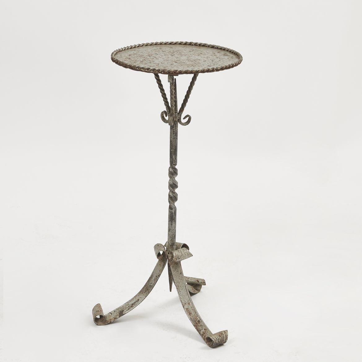 Spanish Silvered Martini Table