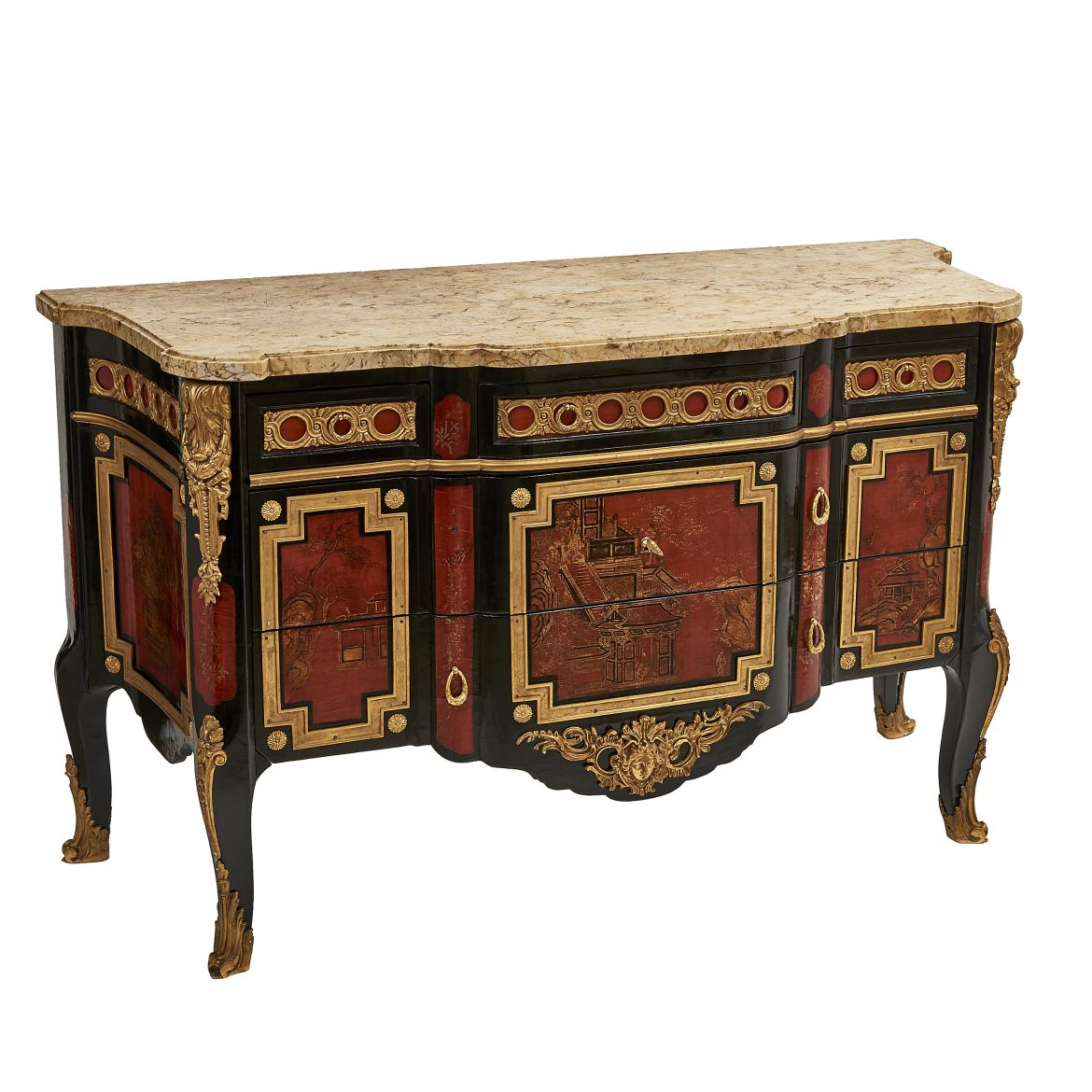 Chinoiserie Breakfront Commode