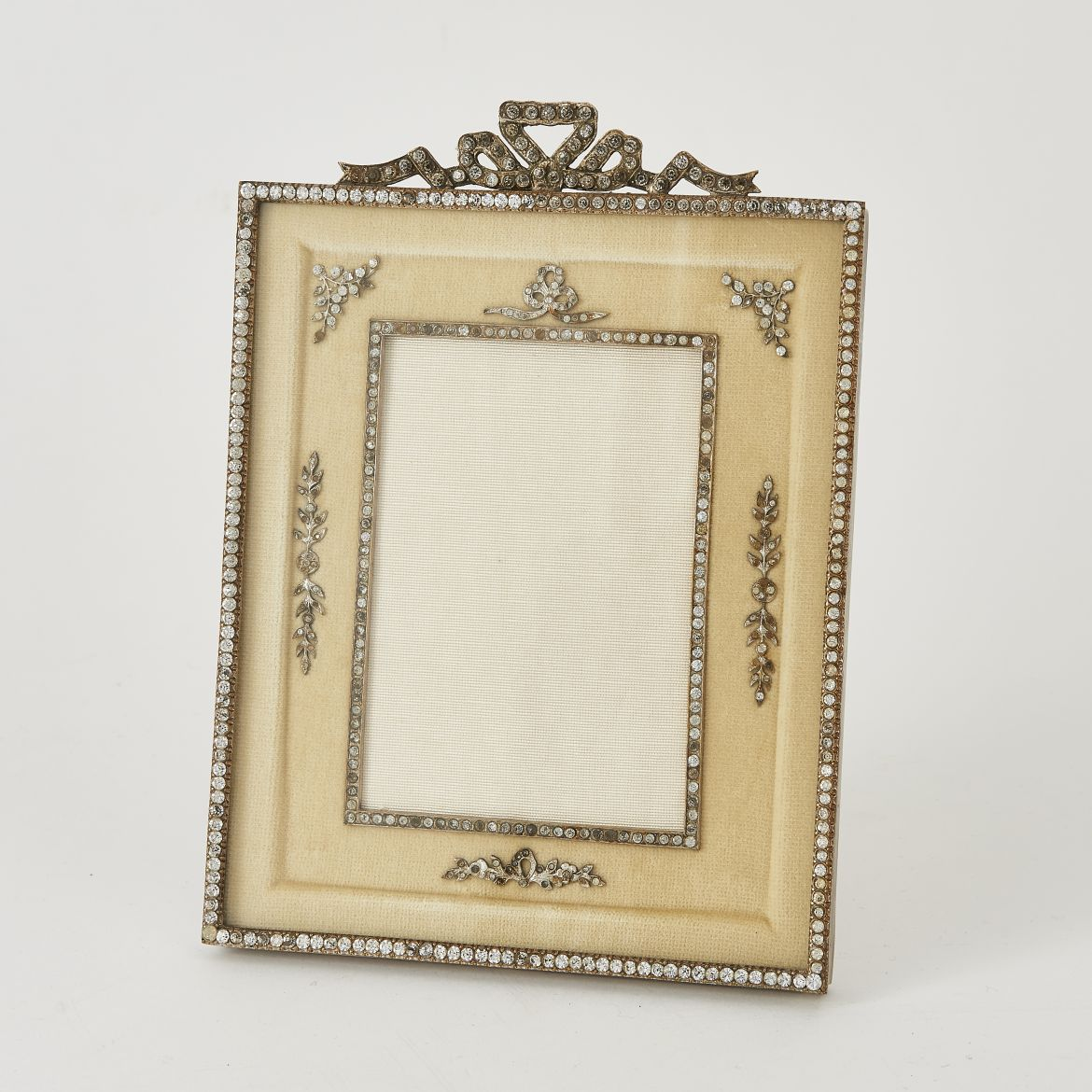 Cream Velvet Slip Photo Frame