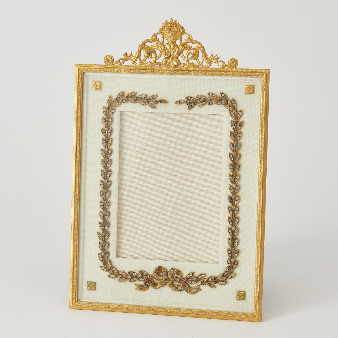 Ormolu Photo Frame With Velvet Slip