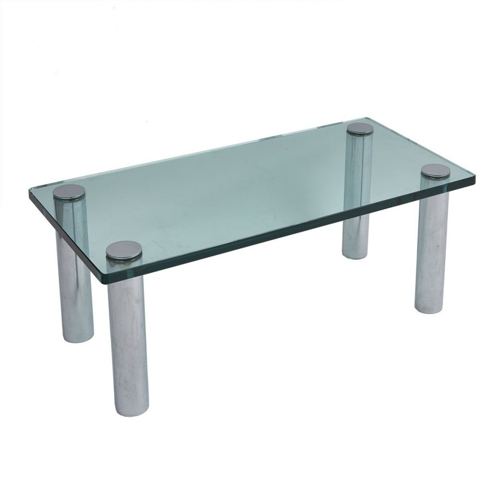 American Glass and Chrome Coffee Table