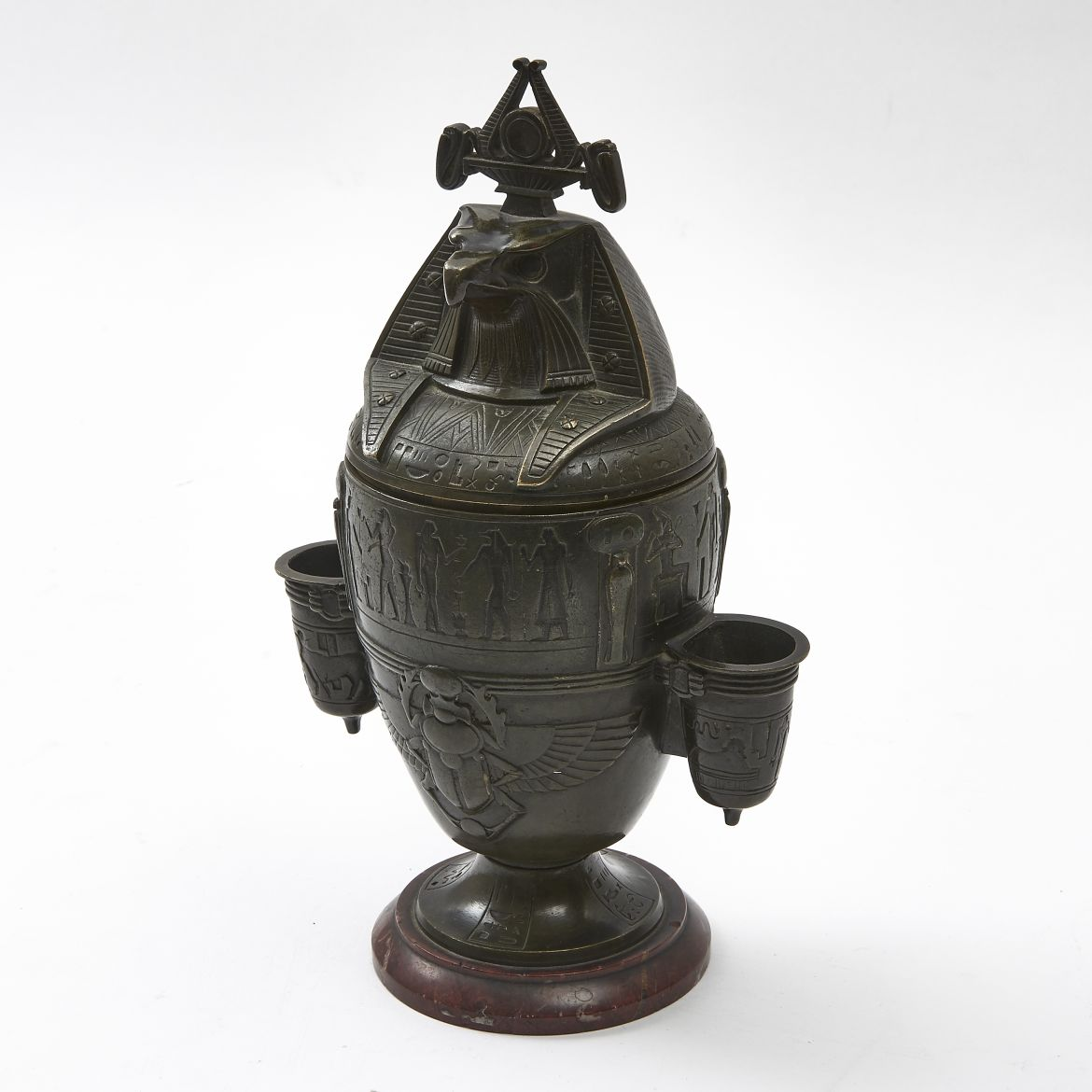 Egyptianesque Bronze Canopic Jar