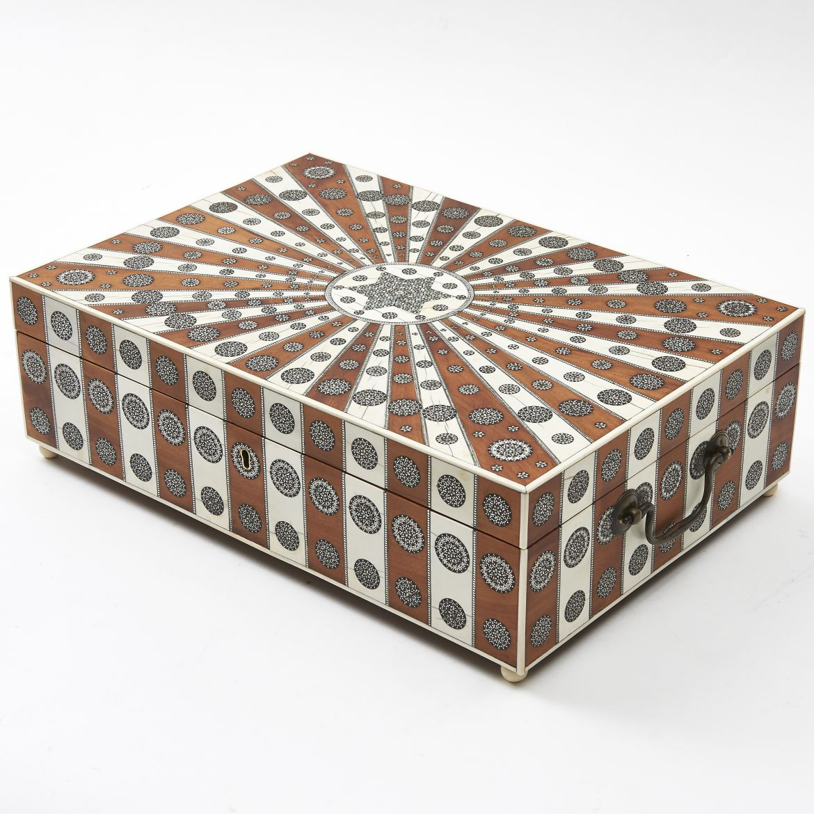 Anglo Indian Sunburst Pattern Box