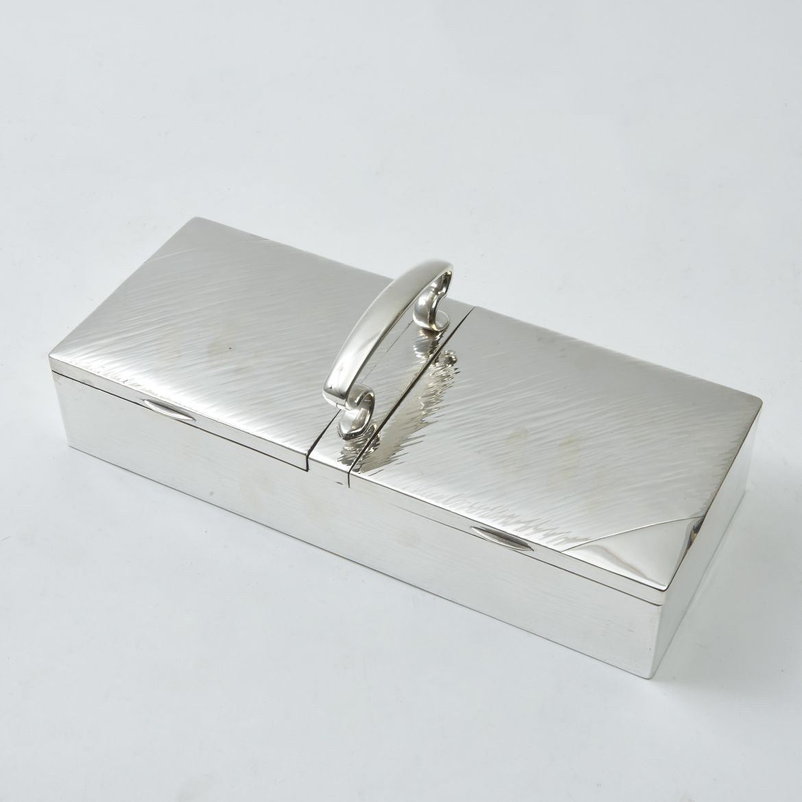 English Silver Plate Cigarette Box